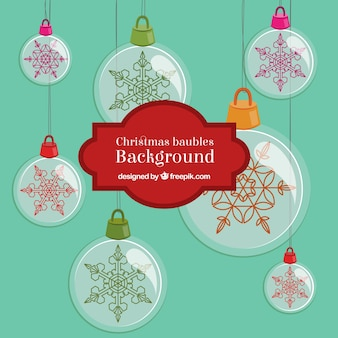 Christmas Big Baubles Background
