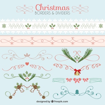 Christmas borders and dividers