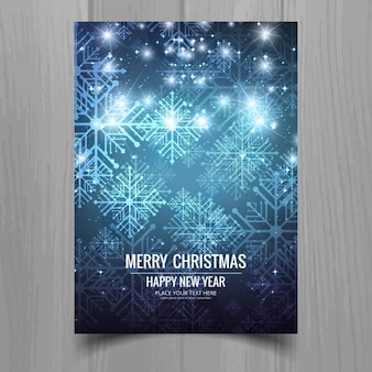 Christmas brochure with snowflakes