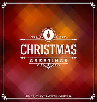 Christmas Card Design - Elegant Stylish Greeting with Typographic elements