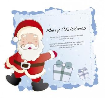 サンタクロースとクリスマスカード