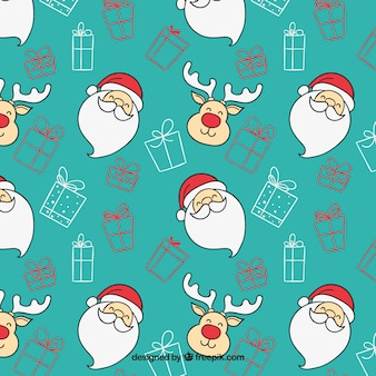 Christmas cartoon pattern