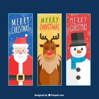 Christmas character banners