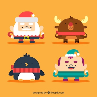 Christmas character flat collection