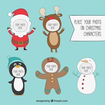 クリスマスの文字フレーム