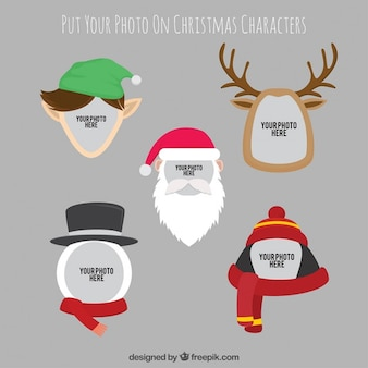 Christmas characters photography template