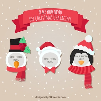 Christmas Characters Template for Photograph
