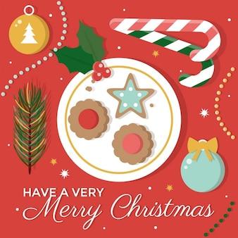 クリスマスクッキーのイラスト