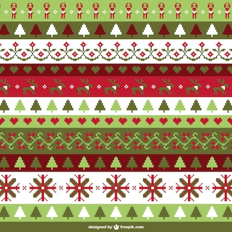 Christmas cross stitch background