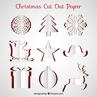 Christmas cut out paper