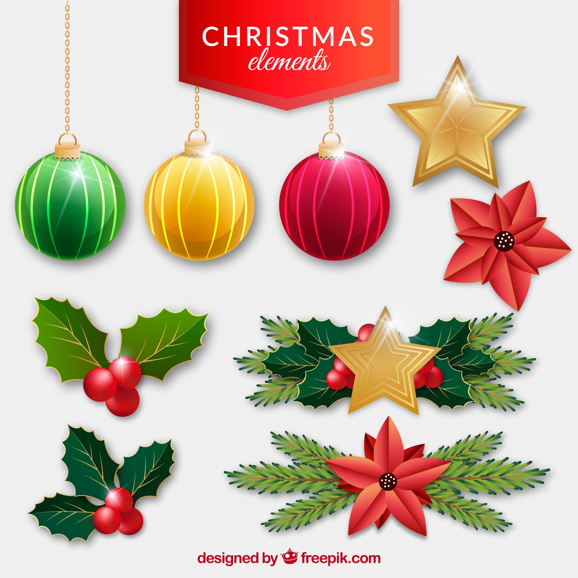 Christmas decoration pack