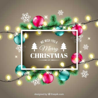 Christmas decoration with realistic style