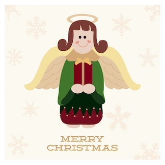 かわいい天使のクリスマスデザイン
