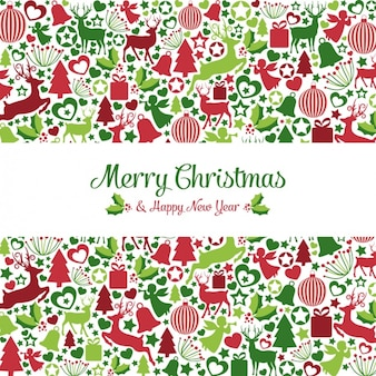 Christmas elements and new year background