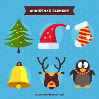 Christmas elements with funny style