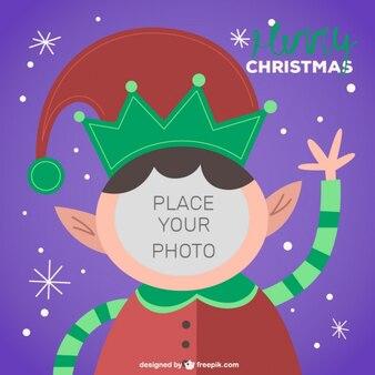 Christmas elf character frame