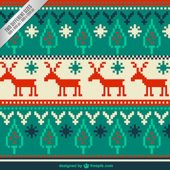 Christmas Embroidery Background