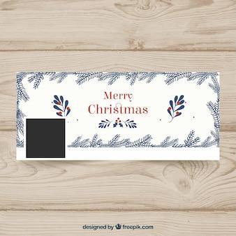 ヴィンテージスタイルのクリスマスのフェイスブックカバー