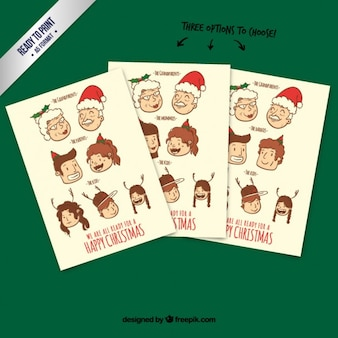 Christmas family card pack