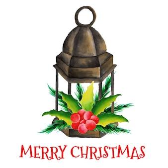 クリスマスフラワーランプ