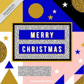 Christmas geometric background with golden details