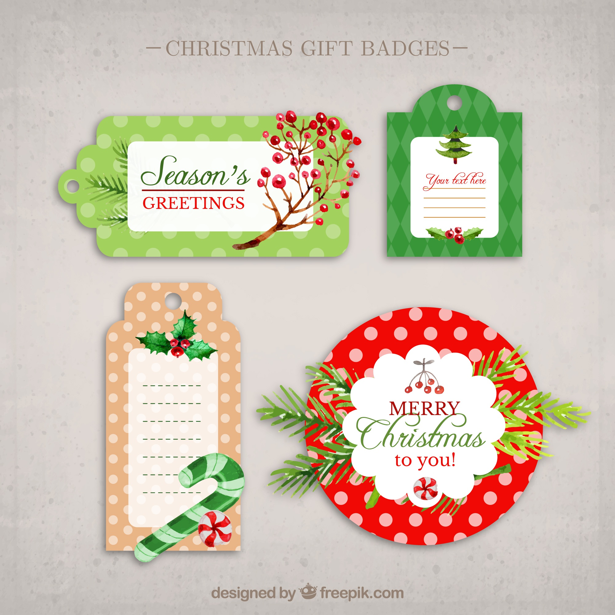 Christmas gift badges