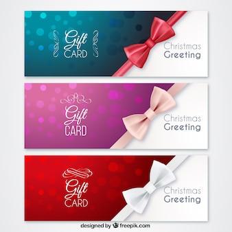 Рождественские подарочные карты