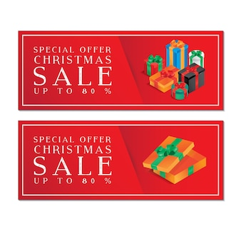 Christmas Gift Voucher with colorful boxes