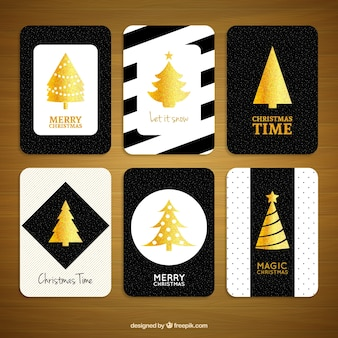 Christmas golden cards