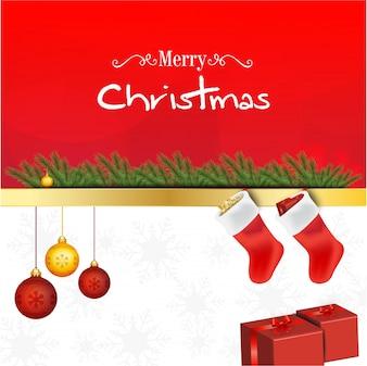 クリスマスの挨拶の背景