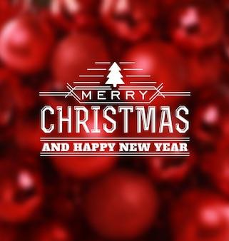 Christmas Greeting Card - Typographic Design