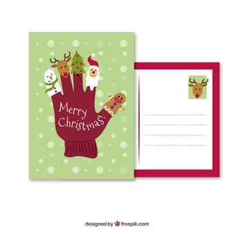 Christmas holiday cartoon card