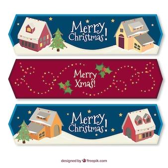 Christmas house banners