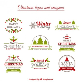 Christmas Insignias Collection