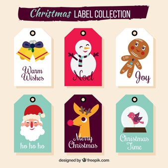 Christmas labels with funny style
