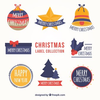 Christmas labels with original style
