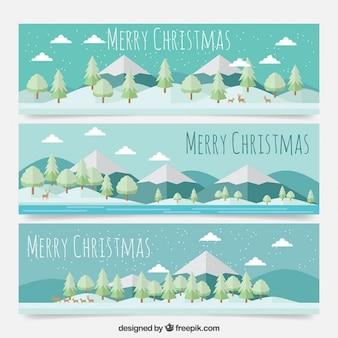 Christmas landscape banners