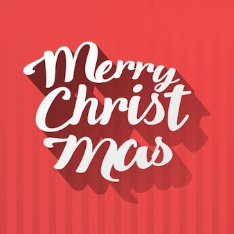 Christmas lettering on a red background