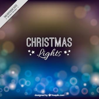 Christmas lights background with sunburst