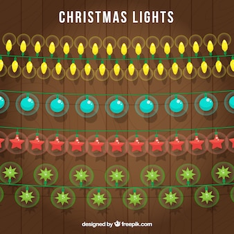 Christmas lights with different colors