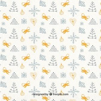 Christmas motifs pattern