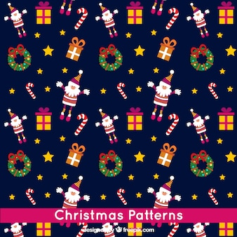 Christmas Navy Blue Pattern