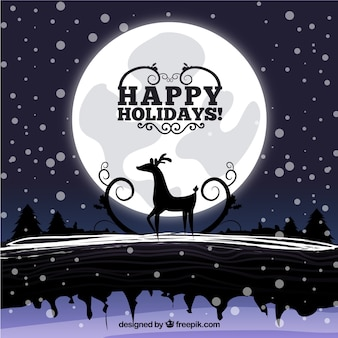 Christmas Night Illustration