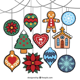 Christmas ornaments to decorate the tree