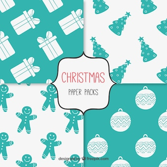 Christmas paper pattern set