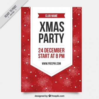 Christmas party brochure in vintage design