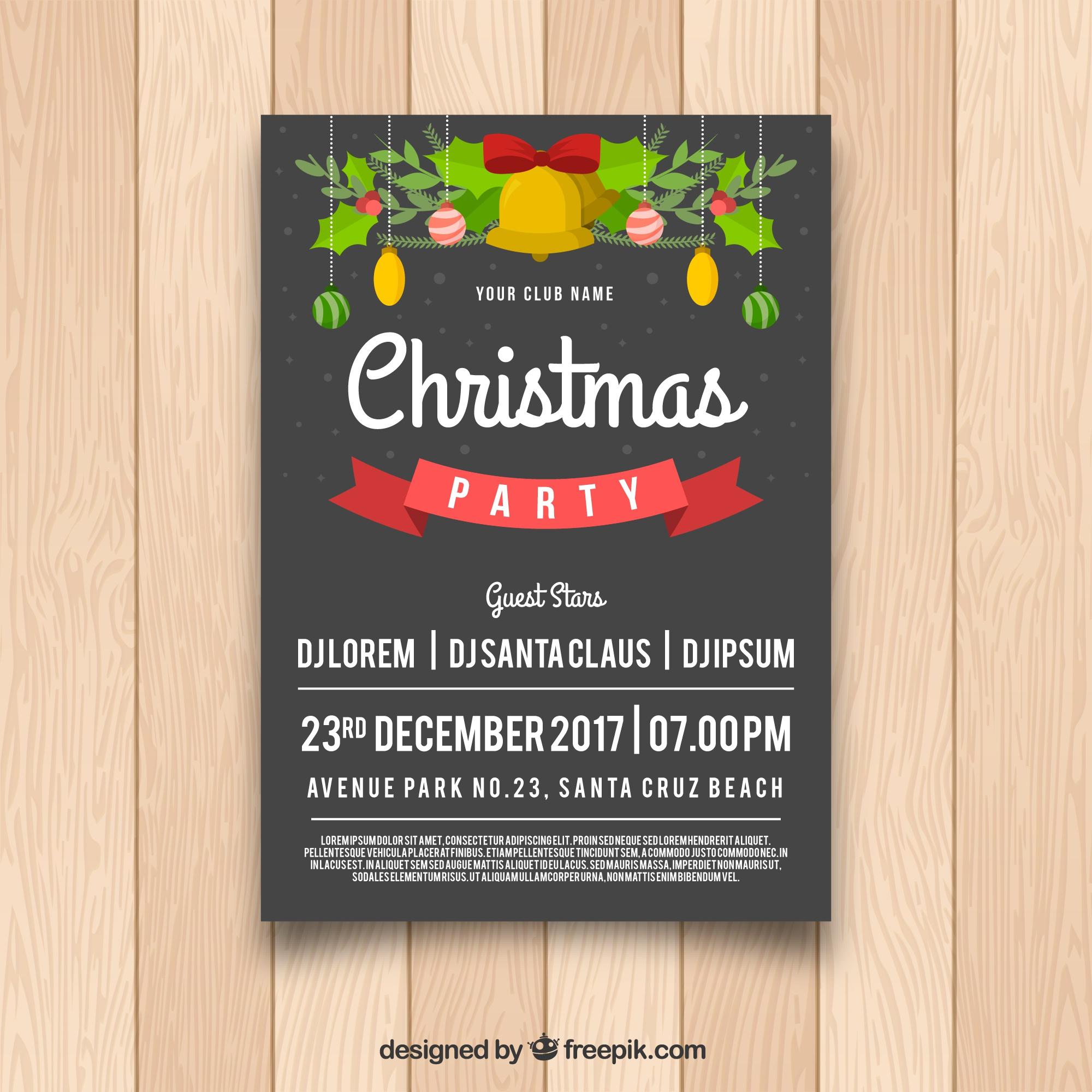 Christmas party poster with lovely style