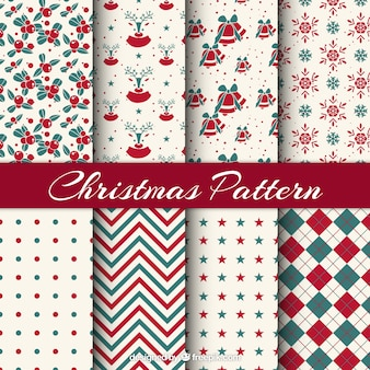 Christmas pattern collection with different motif