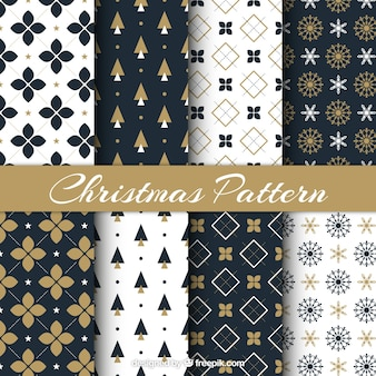 Christmas pattern set with different motif