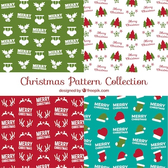 Christmas patterns with elements